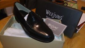 Bass Weejun shoes size 11 black penny loafers brand new