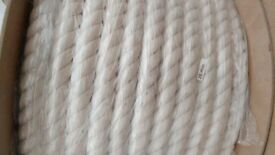 10 Metre Length of 28mm New Cotton Rope