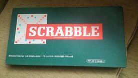 SCRABBLE SPEARS GAMES 1955 WOODEN RACKS COMPLETE