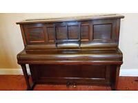 1920-1930 dark wood upright Rogers Piano