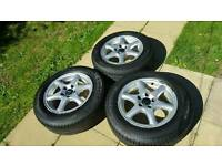 """Volvo 15"""" alloy wheels and tyres"""