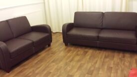 3+2 seater sofas in pu leather