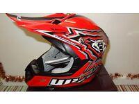 wulfsport helmet youth junior kids motocross motox quad red size l