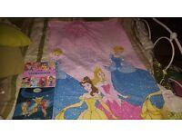 Disney Princess curtains and books
