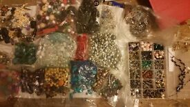 Hundreds jewellery pieces DIY all. Colours ball ends hooks see pics £20for all