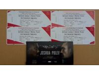 Anthony Joshua vs Kubrat Pulev Tickets Lower Tier
