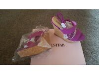 Cork wedge sandals sz 6