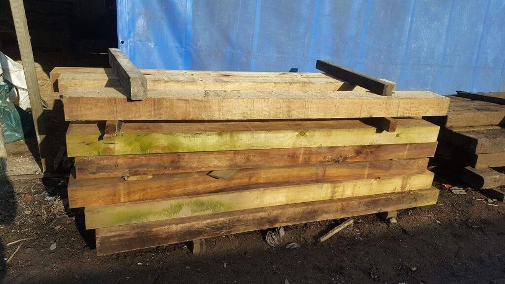 "Railway SleepersNEW AND USEDin Failsworth, ManchesterGumtree - Thanks for looking at our ad. We have some good quality Railway Sleepers, available new and used. The USED railway sleepers are 10x5 in width and depth and 86"" foot long. They are £20 each. The NEW railway sleepers are 8x4 in width and depth and..."