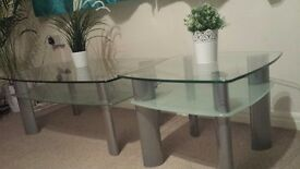 Beautiful Glass Coffee table and Lamp Table