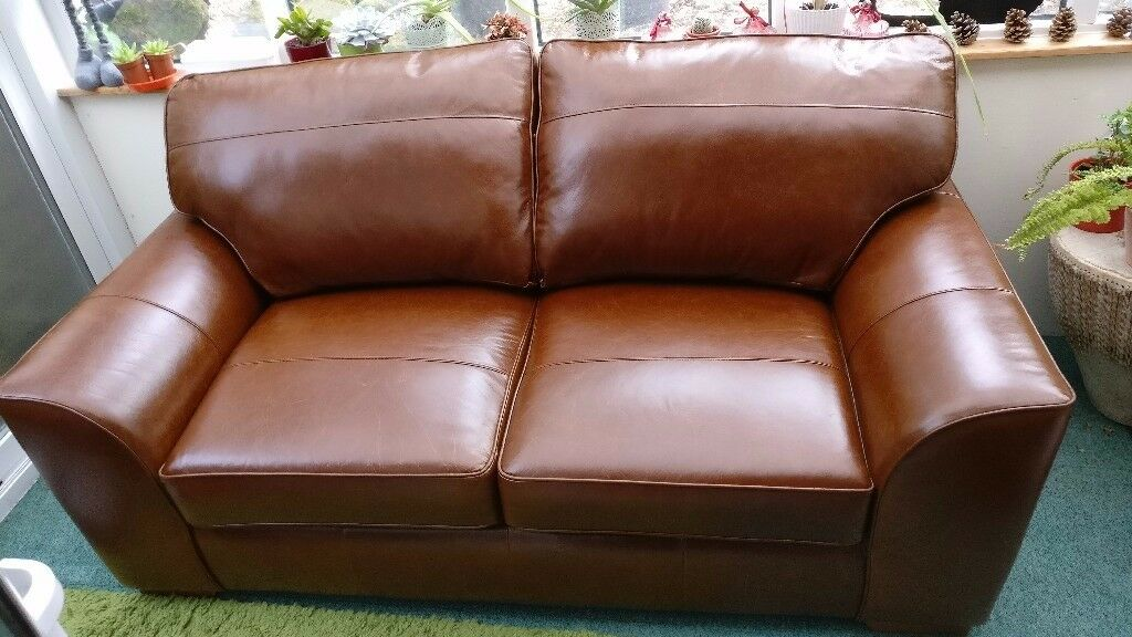 Brown Leather Sofa ( NEXT HOME) - Original