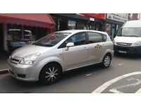 Wolverhampton taxi plated.2007 toyota corrolla verso.t3d4d.7 seater.silver