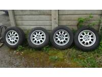 Bmw alloys 15'' with tyres