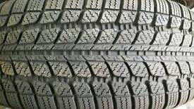 PAIR OF WINTER TYRES ON FIAT RIMS NEARLY NEW 195x50x15