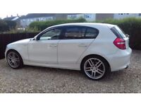 bmw 120d 2008 white black leather ,may p/x road going quad/enduro bike/road bike/car/van/why
