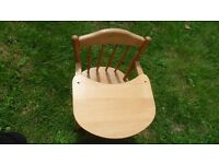 Toddler Wooden High Chair