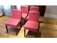 Wonderful set of 4 fabric covered dining chairs