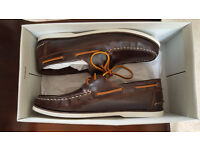 Boat Shoes (leather) - UK size 9 (EU 43) - BRAND NEW (In original box)