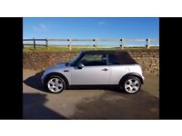 Mini Cooper Convertible in great condition for it's age, low mileage and MOT till October 2018