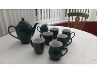 Nice DENBY Greenwich Coffee Set with mugs