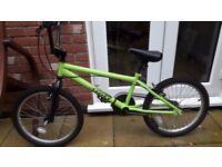 "BMX Bike - Trax BMX Bicycle 11"" Steel Frame V-Brakes 20"" Inch Wheels In Green"