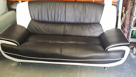 Black and white sofa for sale