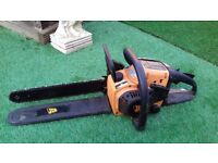 JCB 40cm chainsaw, old but runs well, needs sharpening
