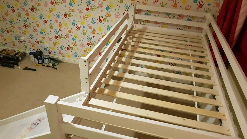 Single Kids Mid Sleeper Cabin Bed With Childrens Slide