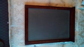 Wall Mirror - rectangular, wooden frame