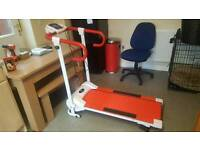 Foldable electric treadmill