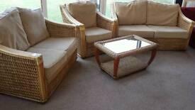 Four piece conservatory furniture suite