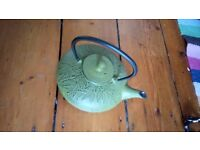 Green Japanese Cast Iron Teapot