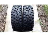 ALL TERRAIN 4X4 M+S TYRES 255 55 19 RETREAD NEW REMOVED FROM SHOWROOM 4X4