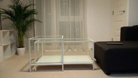White Nest of Tables (Coffee table / Side table) * Glass top * by IKEA £25
