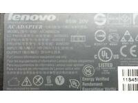 TWO LENOVO AC ADAPTER ADLX65 NCC3A / 65W 20 V