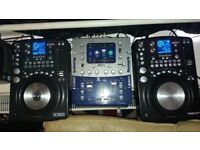Cdj Turntables & Mixer setup - Excelent turntables lots of functions/fx