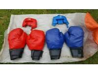 Bouncy castle giant boxing gloves