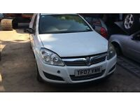 2007 Vauxhall Astra Club CDTI Diesel 1.3L White BREAKING FOR SPARES