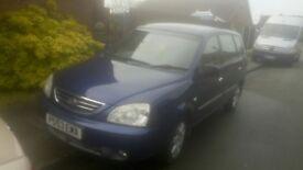 SWAP/PX 03 reg kia carens 64000 miles one owner 5 mths mot £550ono SWAP/PX bmw ford astra mini corsa