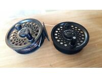 LEEDA Dragonfly 80 Disc Drag graphite reel and spare spool + floating line