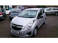 2010 CHEVROLET 1.0L SPARK + 5 DOOR HATCH IN SILVER MARCH 2017 MOT ONLY 50K NEW SERVICE C/L E/W CD +