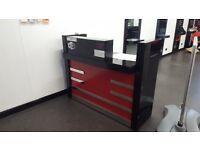 Red heavy salon desk