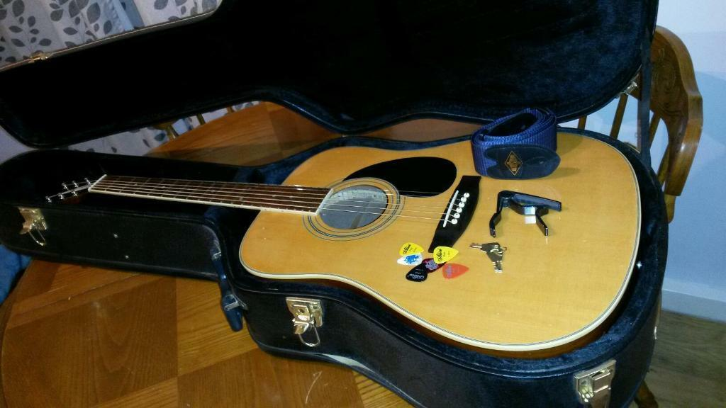 Acoustic guitar and hardcase