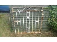 "Metal driveway gates 2.6m x 1m / 104.5"" x 40"" / side footpath gate 0.99m x 1m / 39"" x 40"" £100 ONO"