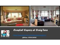 2 Family Caravans for Hire at Craig Tara - Full Easter Availability, great prices
