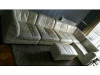 DFS Modular sofa cream leather