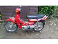 motorbike scooter honda c90 copy lifan 2005 100cc step through full mot cheshire