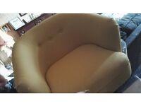 M&s benni tub chair. Yellow