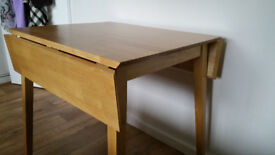 Dining table, small drop leaf.
