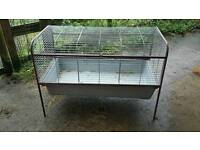 Indoor rabbit/guinea pig cage.