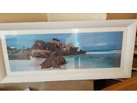 Sea Scape by Colin Prior. Beautiful framed print, 45 x 104 cm.